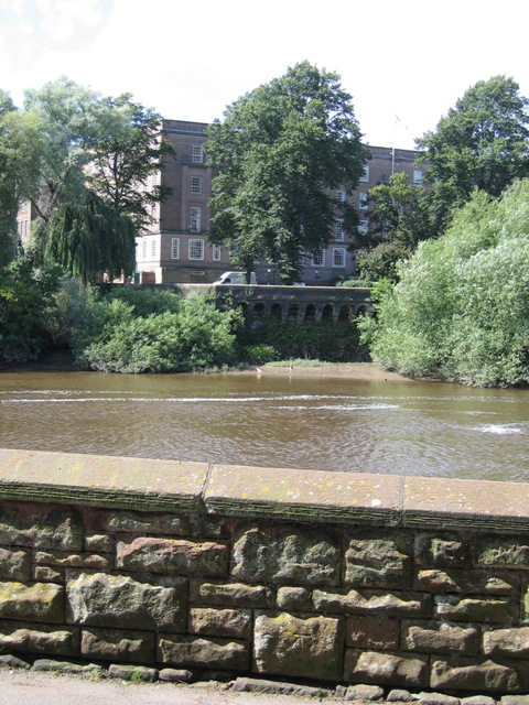 The River Dee, County Hall and a Benchmark