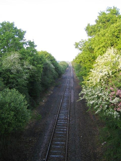Railway line near Calvert
