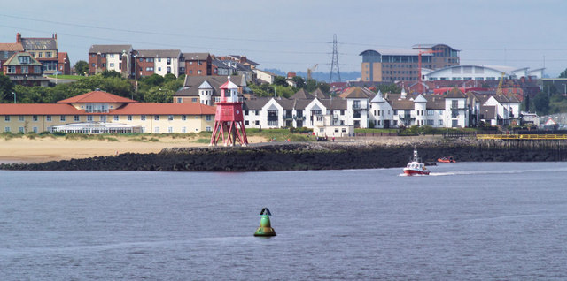 Herd groyne lighthouse from Tynemouth North pier.