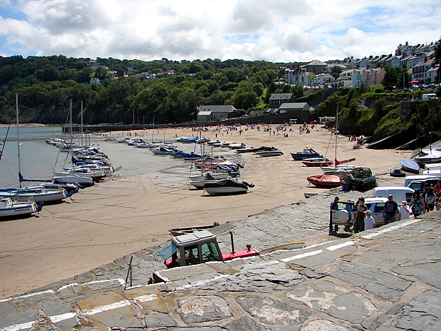 The beach at New Quay
