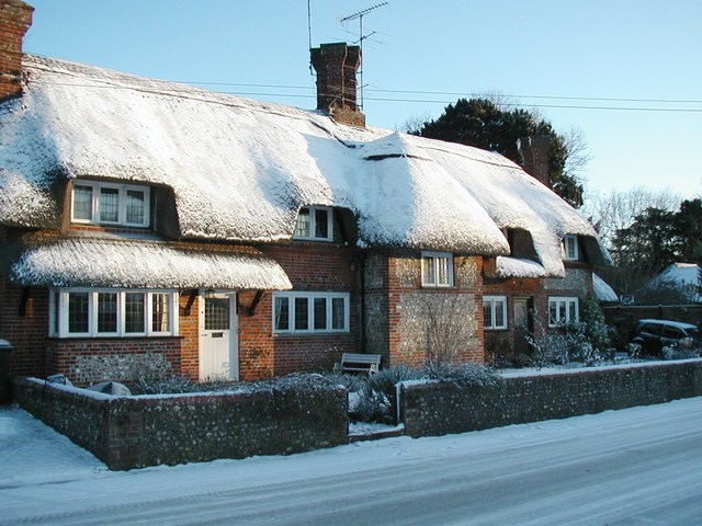 Little Thatch and Amberley Cottage in the Snow