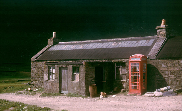 Foula Post Office in 1964