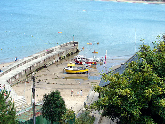 The old pier at New Quay