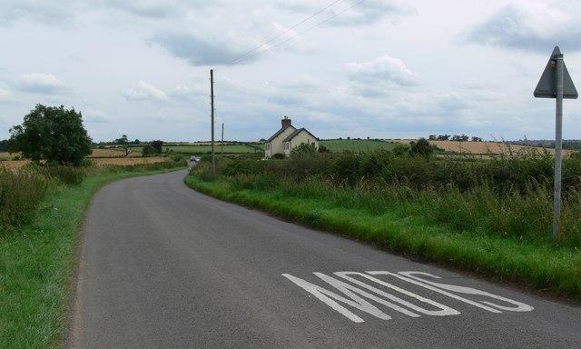Barkby Thorpe Lane near Thurmaston