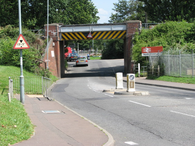 Railway bridge across B1150