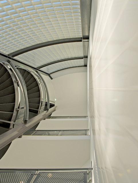 Interior shot - stairwell in Harold Wilson Building