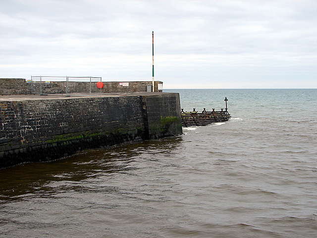 The south pier at Aberaeron