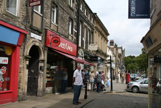 Sheep Street and High Street, Skipton, Yorkshire