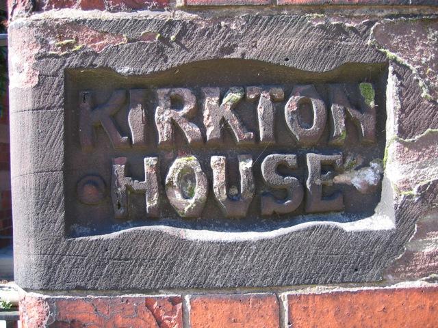 Kirkton House Name Stone