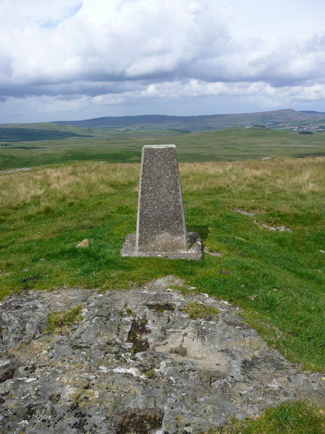The trig point on Big Hill of Glenmount