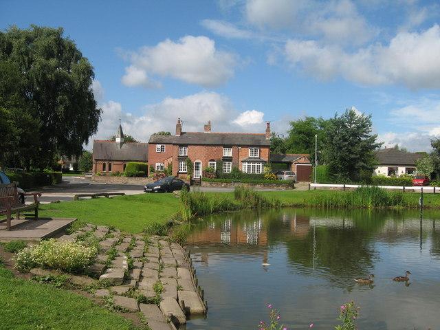 Christleton Pond and Methodist Church