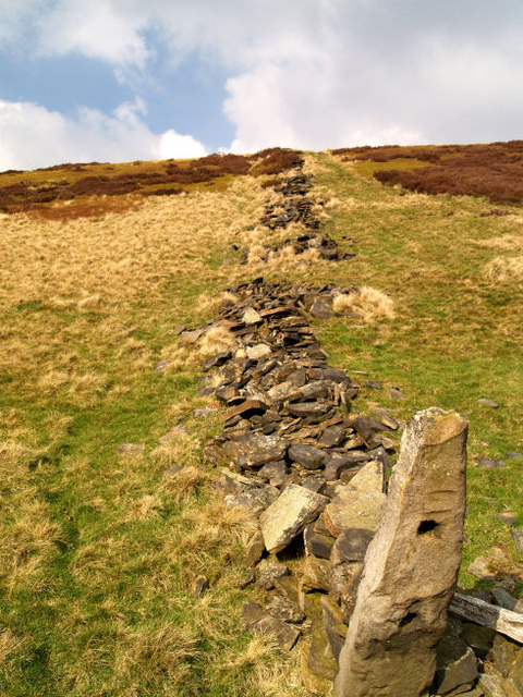 Remains of dry stone wall