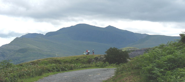 A family outing on Clegyr with Snowdon forming the background