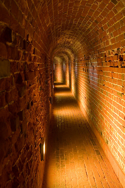 Defensive tunnel in Southsea Castle