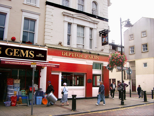 The Deptford Arms Pub.