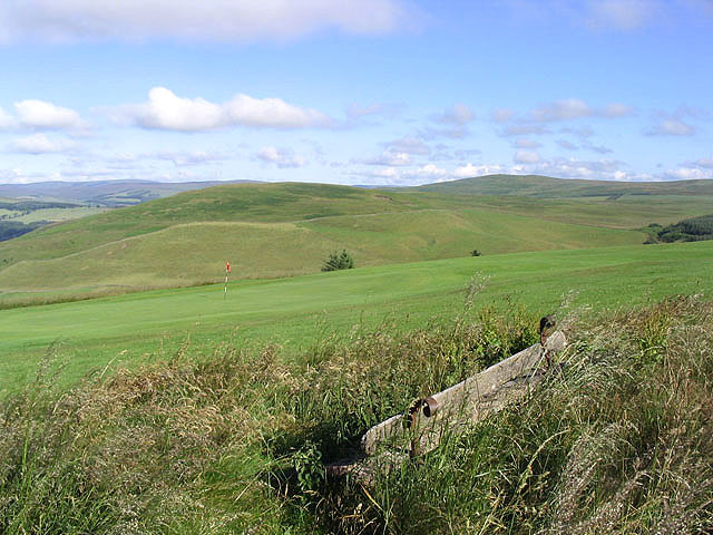 The 15th green at Galashiels Golf Course
