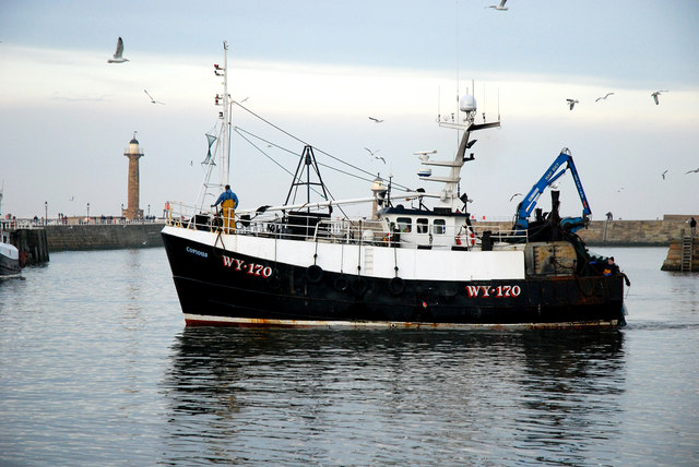 Trawler about to dock