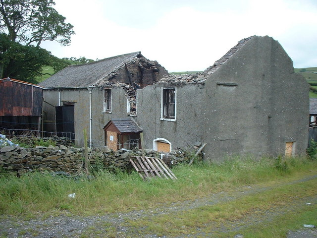 Burnt out farmhouse