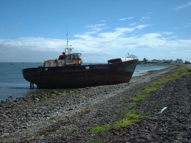 Wrecked fishing vessel