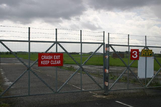 Crash exit 3 Wyton airfield