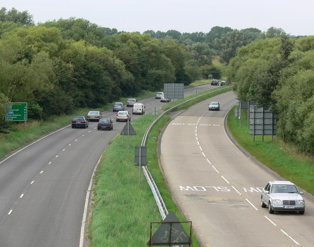 The A607 as it leaves Leicester