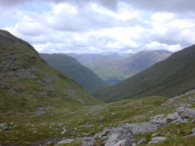 The col north west of Sgor na h-Ulaidh