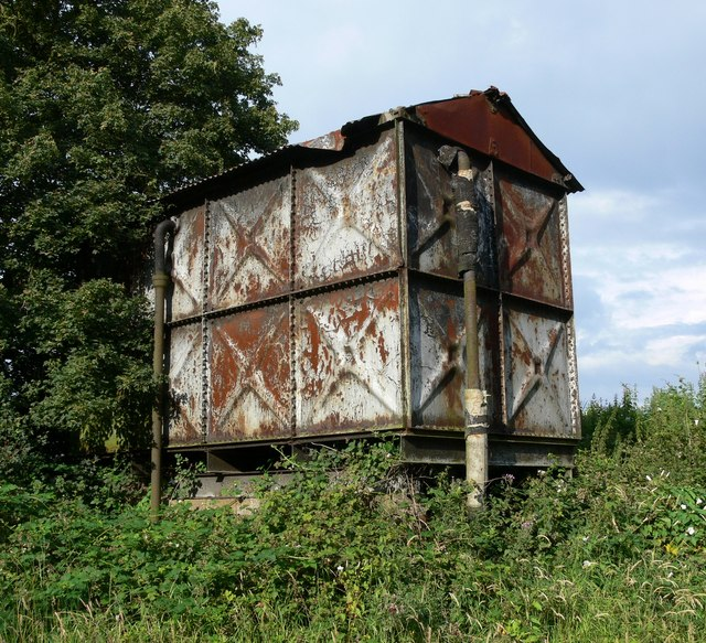 Rusty storage tank