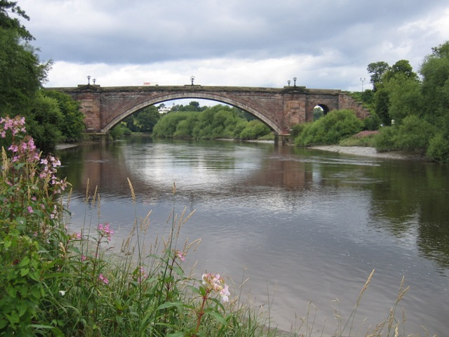 Grosvenor Bridge from the Handbridge River Bank