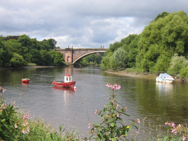 Red Boat on the River Dee