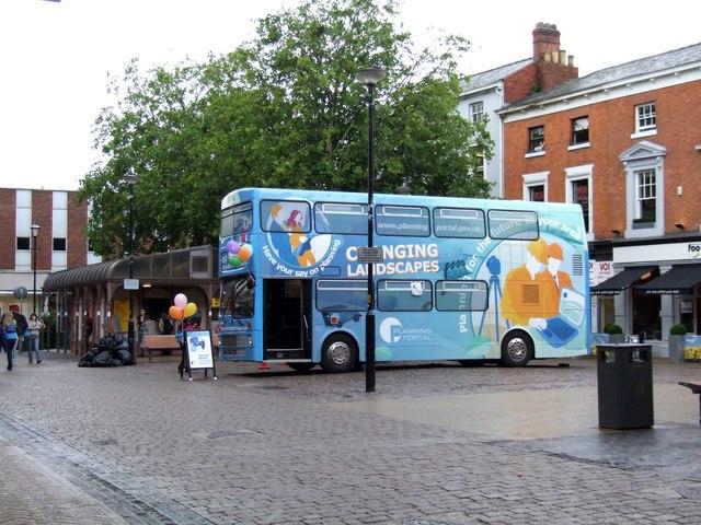 Planning Portal Bus, Cornhill Square, Lincoln