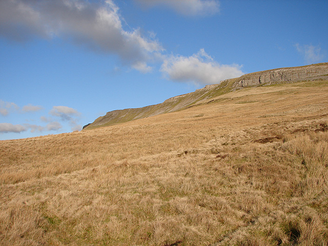 Moorland beneath Pen-y-ghent side