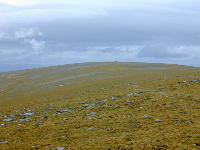 View across the plateau to Carn nam Fiaclan