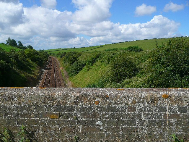 The railway line to Exeter