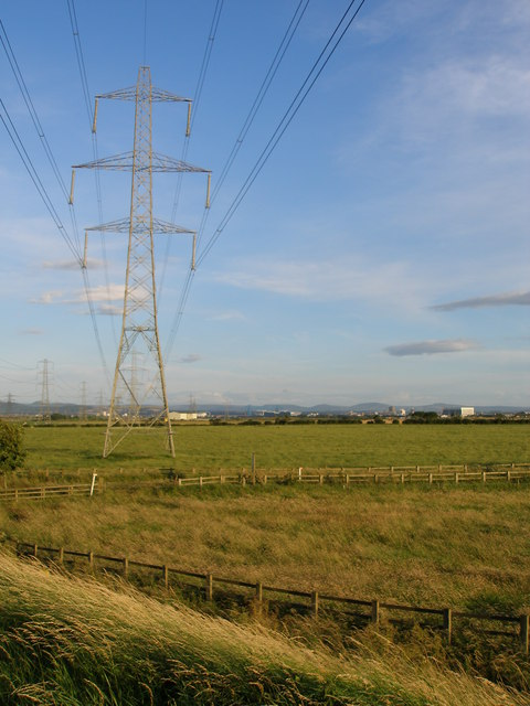 Pylons march across Fore Marsh
