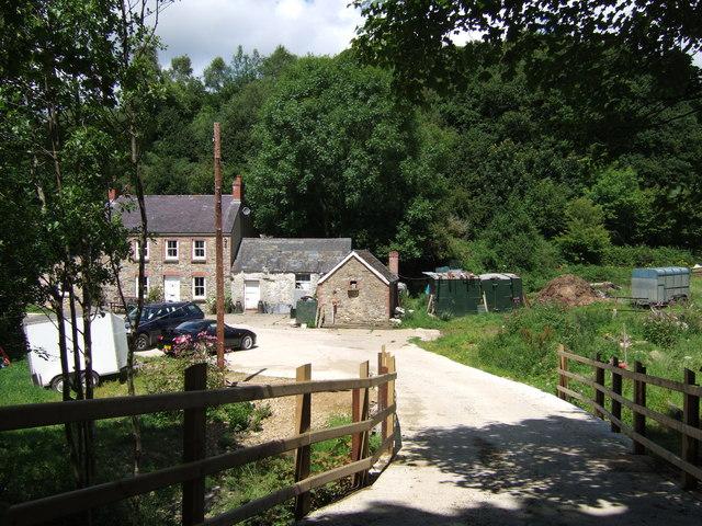House with bridge over  Afon Nyfer