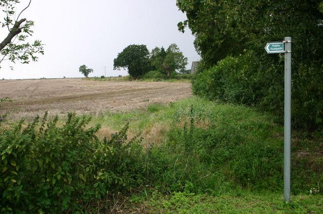 Footpath at Humbrills farm