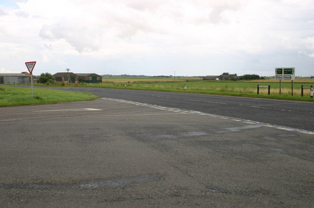 Fenside road junction with the A141 at Chapel Head