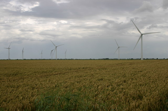Wind farm field by the A141