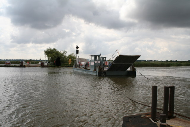 Under way with the Reedham Chain Ferry, Norfolk