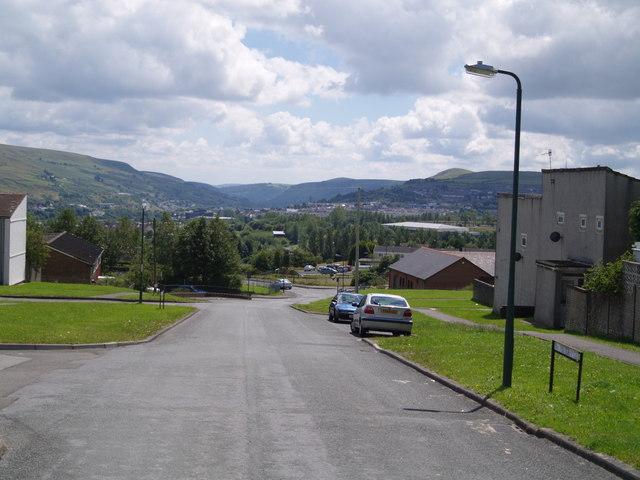 Rassau looking towards Ebbw Vale town