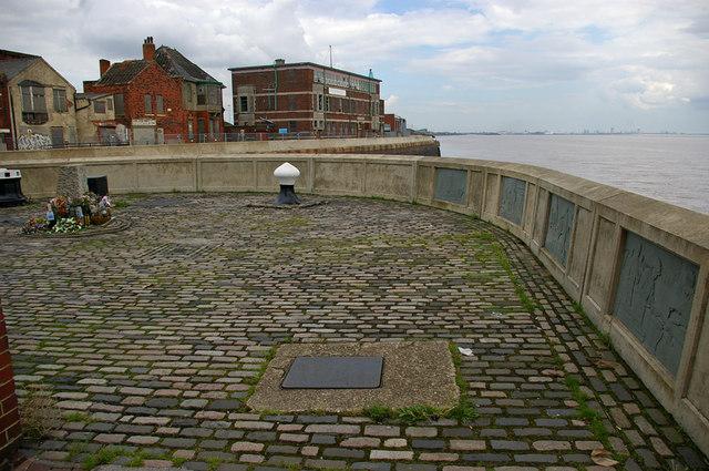 Memorial Area at Old Fish Dock Lock Entrance
