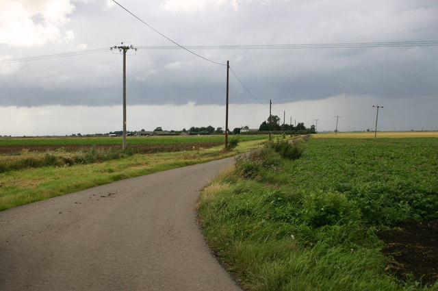 Honeysome road leads to Westmoor farm south