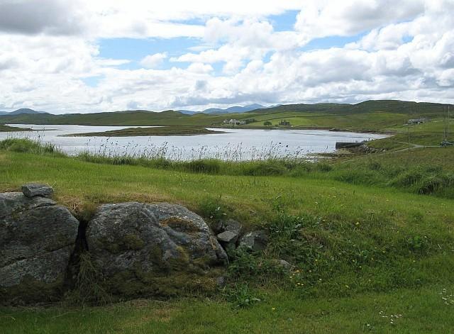 Loch Ceann Hulabhig from Calanais Visitor Centre
