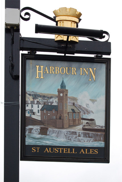 Pub sign, Harbour Inn, Porthleven