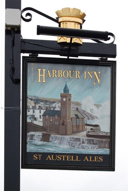 Pub sign, Harbour Inn, Porthleven