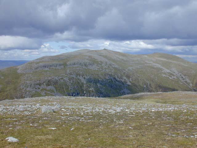Towards the end of Beinn a' Chlachair's north east ridge
