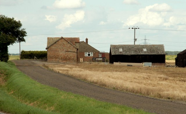 A view of Pyper's Hill Farm as seen from Ely Road