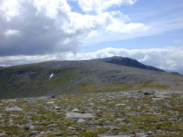 The north east ridge of Beinn a' Chlachair