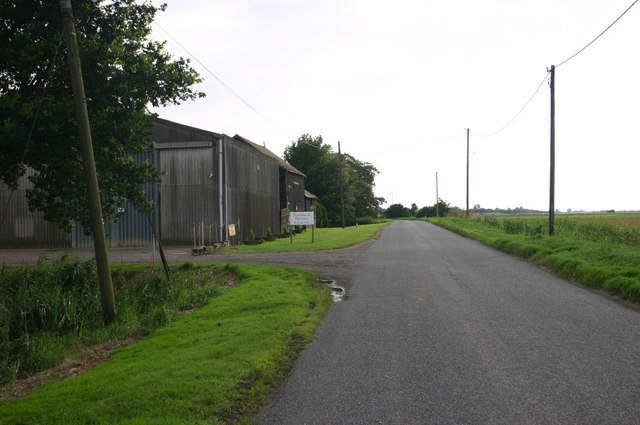 Roadside farm on the B1096