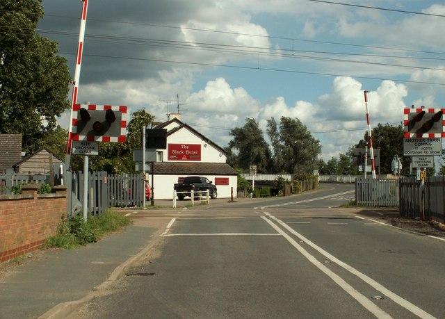 Level crossing on Victoria Street in Littleport